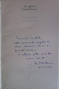 Dan C. Mihailescu - Perspective eminesciene (debut, cu autograf)