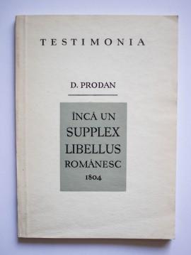David Prodan - Inca un Supplex Libellus romanesc 1804