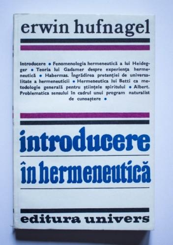 Erwin Hufnagel - Introducere in hermeneutica