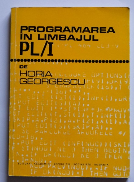 Horia Georgescu - Programarea in limbajul PL/I