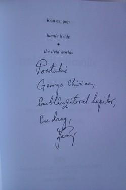 Ioan Es. Pop - Lumile livide/The livid worlds (editie bilingva romano-engleza, cu autograf)