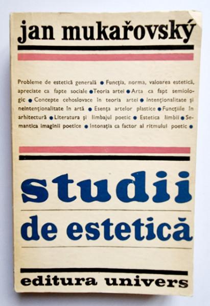 Jan Mukarovsky - Studii de estetica