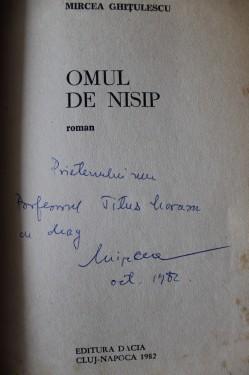 Mircea Ghitulescu - Omul de nisip (cu autograf)