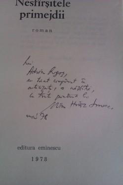 Mircea Horia Simionescu - Nesfarsitele primejdii (cu autograf)