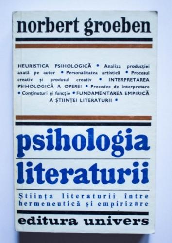 Norbert Groeben - Psihologia literaturii