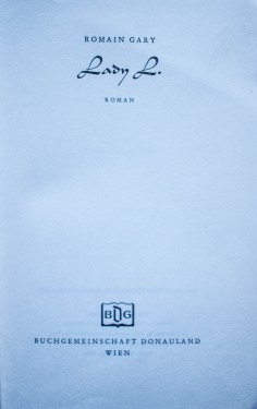 Romain Gary - Lady L. (editie hardcover, in limba germana)