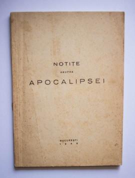 Tipografia Lupta - Notite asupra Apocalipsei