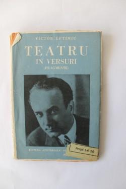 Victor Eftimiu - Teatru in versuri (fragmente) (editie antebelica)