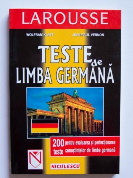 Wolfram Klatt, Jean-Paul Vernon - Teste de limba germana