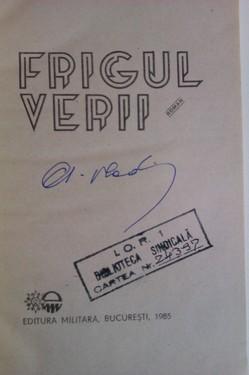 Alexandru Vlad - Frigul verii (cu autograf)