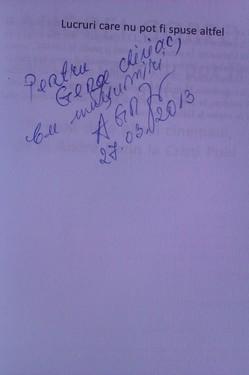 Andrei Gorzo - Lucruri care nu pot fi spuse altfel (cu autograf)