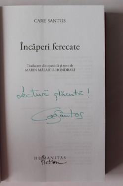 Care Santos - Incaperi ferecate (cu autograf simplu)