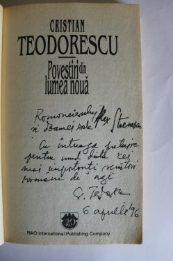 Cristian Teodorescu - Povestiri din lumea noua (cu autograf)