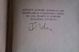 F. Aderca - Marturia unei generatii (cu autograf, editie interbelica)
