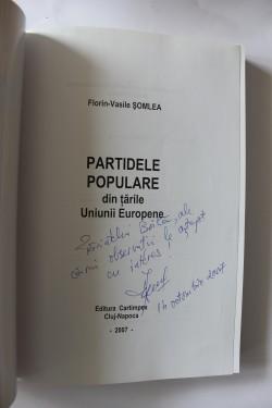 Florin-Vasile Somlea - Partidele populare din tarile Uniunii Europene (cu autograf)