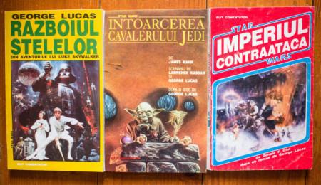 Georges Lucas - Razboiul stelelor. Din aventurile lui Luke Skywalker, James Kahn - Intoarcerea Cavalerului Jedi, Donald F. Glut (dupa un roman de George Lucas) - Star Wars. Imperiul contraataca (3 vol.)