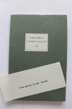 Ilarie Voronca - Poemes Choisis (editie in limba franceza)