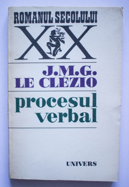 J. M. G. Le Clezio - Procesul verbal
