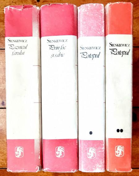 Lot 3 romane Henryk Sienkiewicz - Paznicul farului. Prin foc si sabie. Potopul (4 vol., editii hardcover)