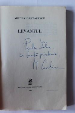 Mircea Cartarescu - Levantul (cu autograf/signed edition)