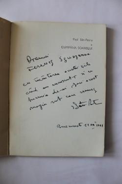 Paul San-Petru - Cumpana soarelui (cu autograf)