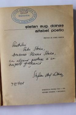 Stefan Aug. Doinas - Alfabet poetic (cu autograf)