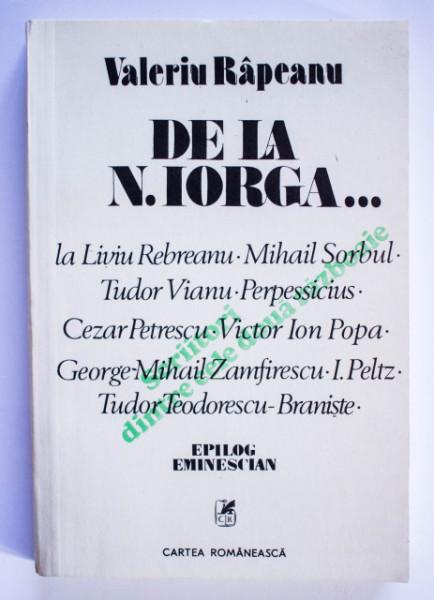Valeriu Rapeanu - Scriitori dintre cele doua razboaie mondiale