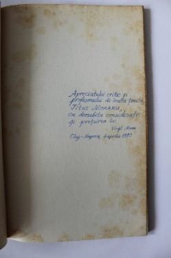 Virgil Mihai - Sighisoara, Suedia si alte stari de spirit (cu autograf)