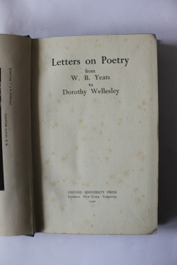 W. B. Yeats, Dorothy Wellesley - Letters on Poetry from W. B. Yeats to Dorothy Wellesley (editie hardcover)