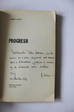 Aurel Sasu - Progresii (debut, cu autograf)