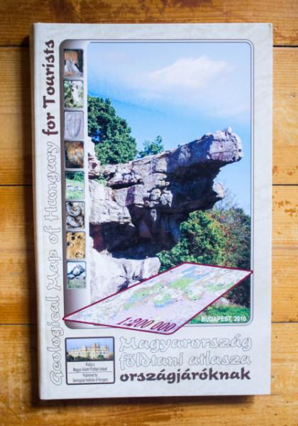 Colectiv autori - Magyarorszag foldtani atlasza orszagjaroknak / Geological Map of Hungary for Tourists (editie hardcover, bilingva, engleza-maghiara)