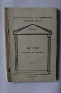 Colectiv autori - Structuri agrare mondiale (note de curs)