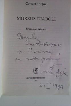 Constantin Toiu - Morsus diaboli (cu autograf)