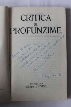 Mircea Martin - Critica si profunzime (cu autograf)