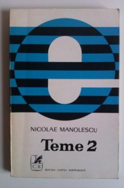 Nicolae Manolescu - Teme 2