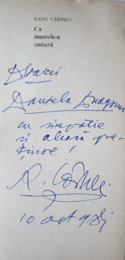 Radu Carneci - Ca muntele-n amiaza (cu autograf)