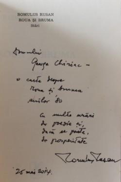 Romulus Rusan - Roua si bruma (cu autograf)