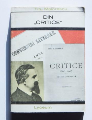 """Titu Maiorescu - Din """"Critice"""""""