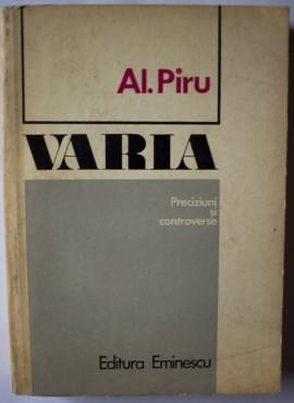 Al. Piru - Varia. Preciziuni si controverse