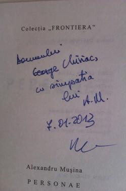 Alexandru Musina - Personae (cu autograf)
