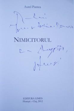 Aurel Pantea - Nimicitorul (cu autograf)