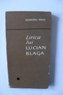 Dumitru Micu - Lirica lui Lucian Blaga