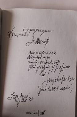 George Vulturescu - Aur si iedera (cu autograf)