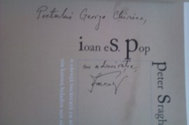 Ioan Es. Pop, Peter Sragher, Robert Serban - O caruta incarcata cu nimic/Ein karren beladen mit nichts (editie bilingva, germano-romana, cu autograful lui Ioan Es. Pop)