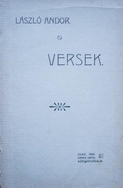 Laszlo Andor - Versek (editie hardcover, antebelica)
