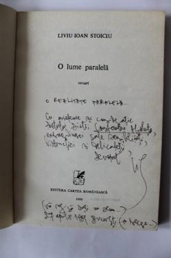 Liviu Ioan Stoiciu - O lume paralela (versuri) (cu autograf)
