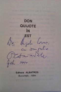 Octavian Paler - Don Quijote in Est (cu autograf)