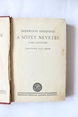 Sherwood Anderson - A sotet nevetes (editie hardcover, interbelica)