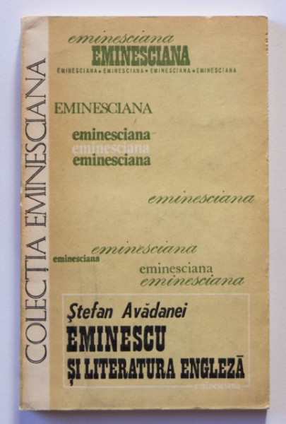 Stefan Avadanei - Eminescu si literatura engleza