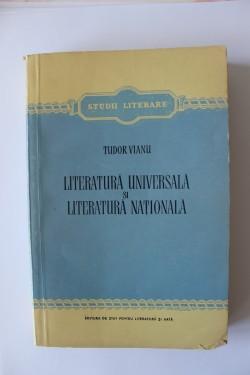 Tudor Vanu - Literatura universala si literatura nationala